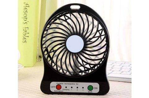 Akkumulátoros mini ventilátor USB kábellel