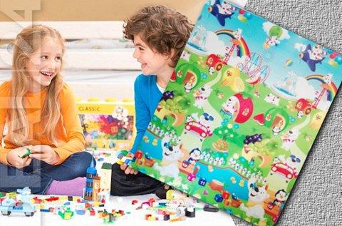 Színes, mintás gyermek játszószőnyeg