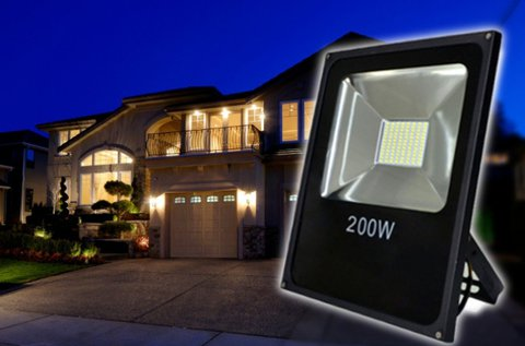 Energiatakarékos 200 W-os LED reflektor