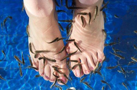 Halpedikűr radírozással és lábmasszázzsal