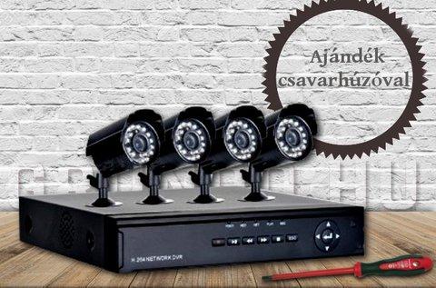 Komplett 4 kamerás megfigyelőrendszer
