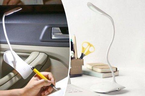 Csíptetéssel rögzíthető LED asztali olvasólámpa