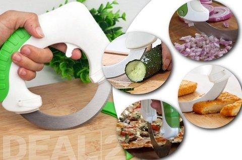 Roll 'n Cut kerek pizza- és zöldségszeletelő kés