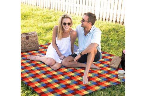 Alsó vízhatlan borítású strand-piknik takaró