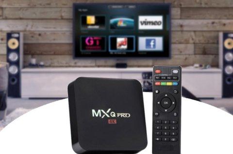 MXQ Pro 4K-s Smart TV box 4 magos processzorral