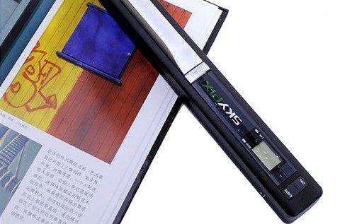 Kézi szkenner LCD kijelzővel, USB kábellel