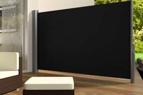 Kihúzható árnyékoló fal fekete színben