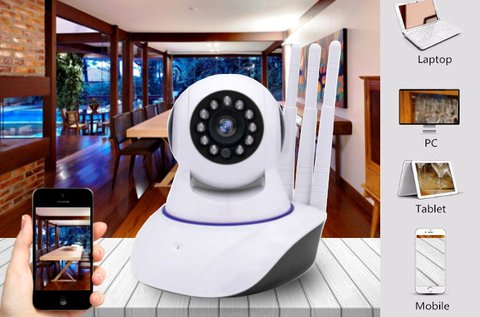 Mobilról és PC-ről nézhető, forgatható wifi IP kamera