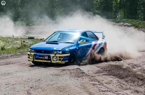Subaru Impreza WRX STi rallyautó vezetés Gyálon