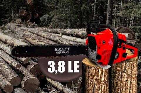 3,8 LE-s KrafTech benzines láncfűrész