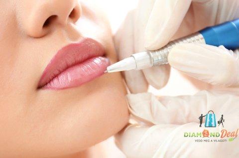 3D szájsatír tetoválás normál és keskeny ajkakra