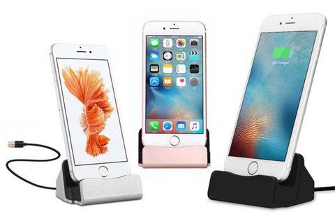 iPhone és micro USB asztali telefontöltő