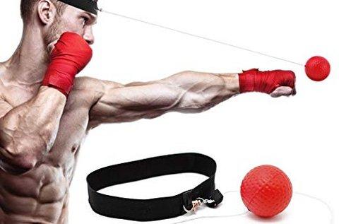 Gyakorló labda boxoláshoz, tépőzáras homlokpánttal