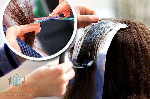Melírozás vágással, regeneráló hajpakolással