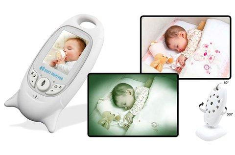 Kamerás bébiőr szülő- és babaegységgel