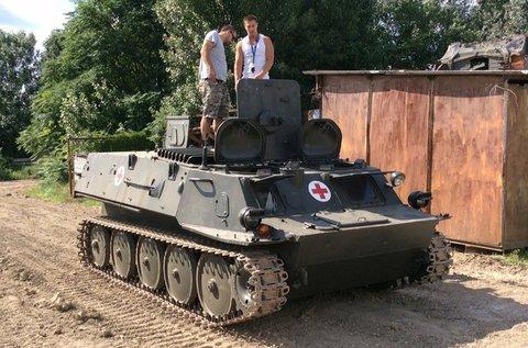 GTMU kisméretű harckocsi vezetés terepen