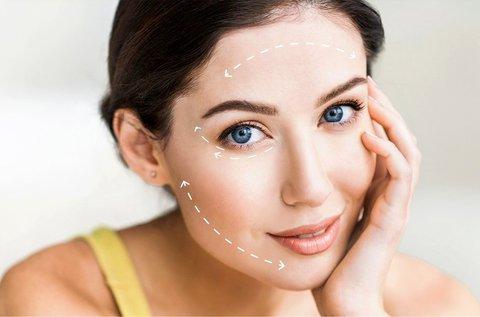 HIFU teljes arc, homlok, szemhéj és száj kezelés