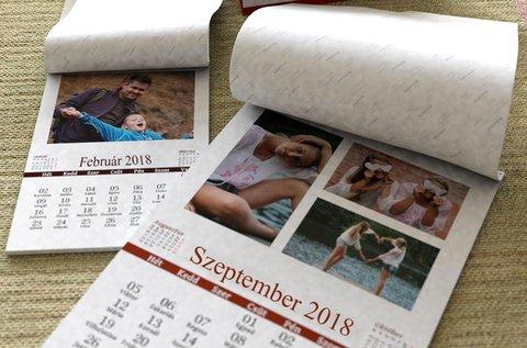 12+1 lapos naptár saját képekkel, fotópapíron