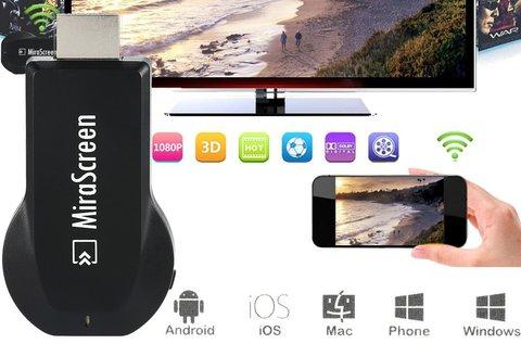 MiraScreen WiFi-s TV okosító eszköz