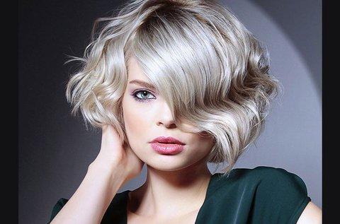 Női rövid hajvágás max. 15 cm hosszú hajra