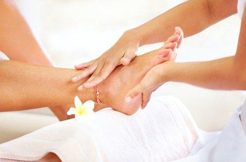 60 perces talpreflexológiás kezelés