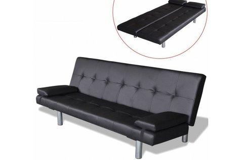 Elegáns steppelt dönthető kanapéágy 2 párnával