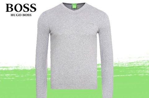 Hugo Boss férfi V-nyakú pulóver pamutból