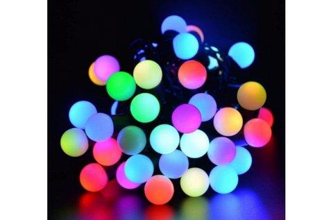 5 m-es gömb alakú, színes LED fényfüzér