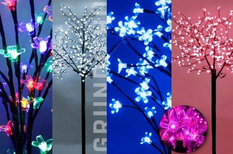 Gyönyörű 84 LED-es Sakura fa bel- és kültérre