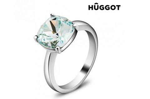 Elegáns Pacific Huggot ródiumozott gyűrű