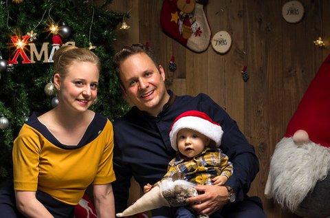 Hangulatos karácsonyi fotózás max. 6 főnek