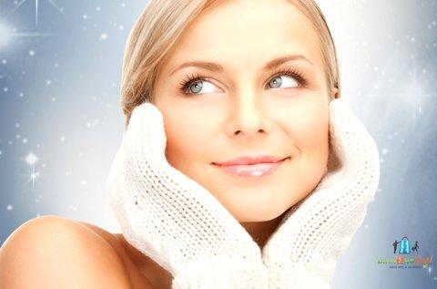 Krioterápiás arckezelés hyaluronos pakolással