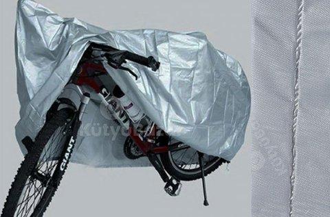 Vízálló kerékpár takaróponyva ezüst színben