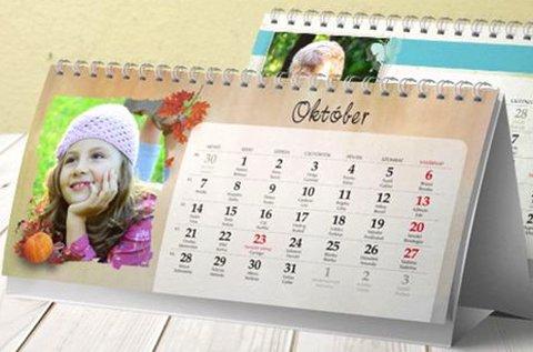 2019-es asztali naptár havi elrendezéssel