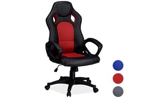 Kényelmes gamer szék kék színben