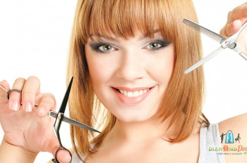 Divatos frizura hajvágással és pakolással