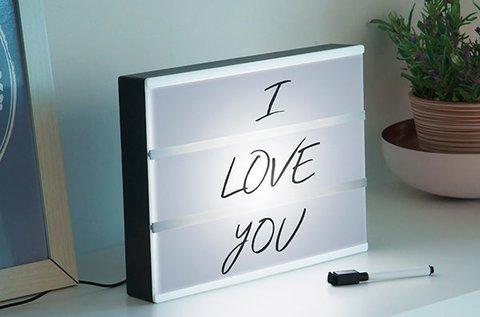 Cinema világító LED tábla személyes üzeneteknek