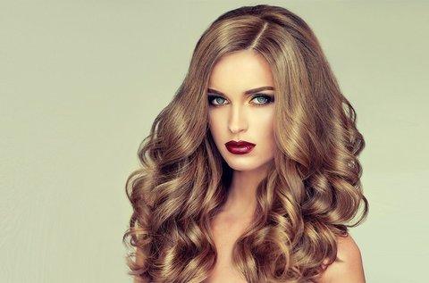 Csodás frizura vágással és keratinos hajápolással