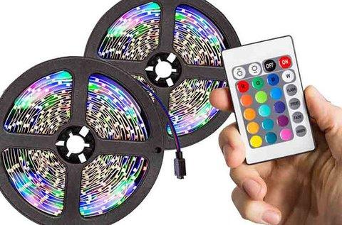 5 m-es programozható RGB LED fényszalag