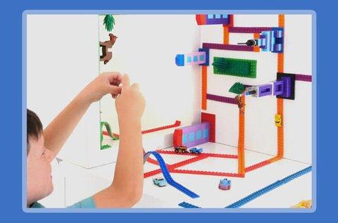 8 db LEGO kompatibilis szilikon építőszalag