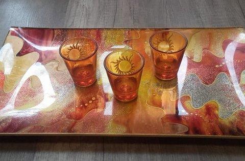 Kreatív üvegfestő workshop többféle technikával