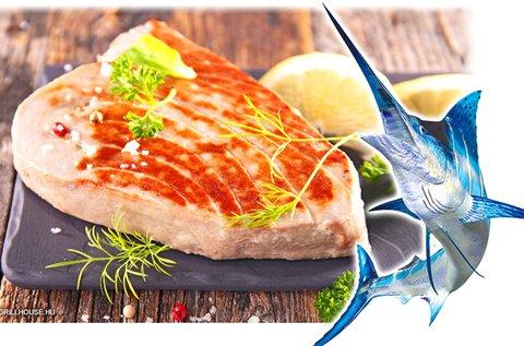 Kardhal steak grillezett burgonyával és zöldséggel
