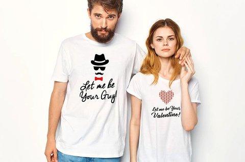 Egyedi mintás páros pólók szerelmeseknek