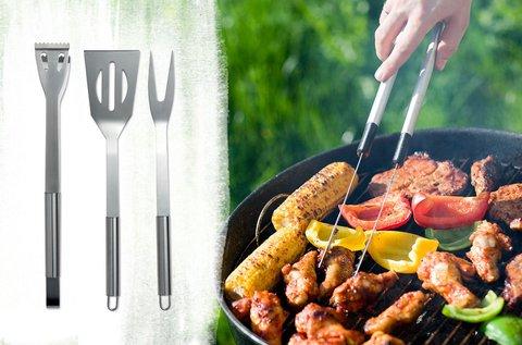 3 részes grill szettek rozsdamentes acélból