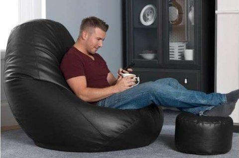 Szuperkényelmes Gamer XXL fotel puffal