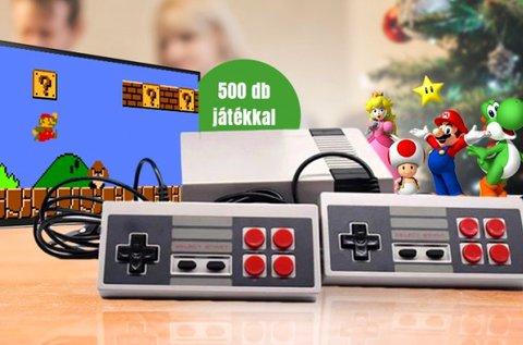 Retró játékkonzol 500 db beépített játékkal