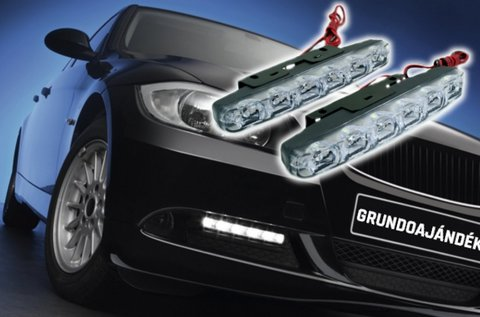 6 LED-es nappali menetfény E4 és RL00 jelzéssel