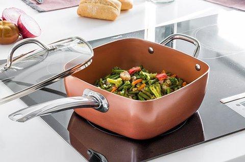 Cookware Copper kerámia serpenyő készlet