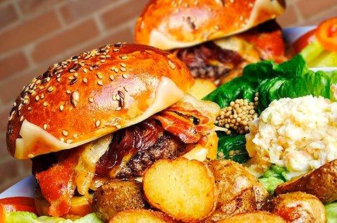 Prémium hamburger menü marhahúsból 2 főre