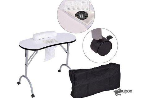Hordozható manikűrasztal beépített ventilátorral